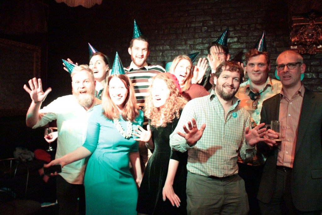 Team PledgeMe celebrates their three and a third birthday. How could you not want to be part of this team?