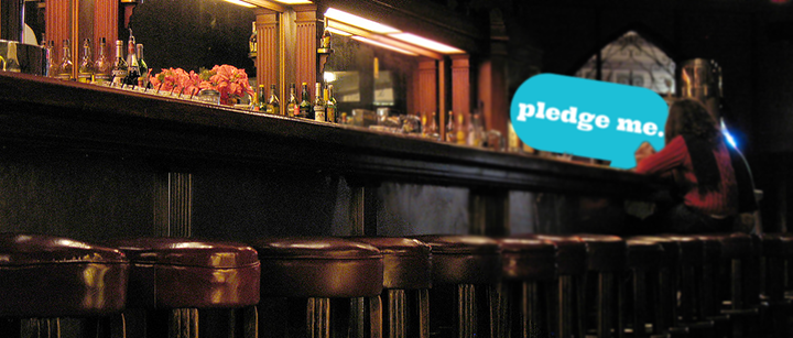 Barry sees PledgeMe from across the bar…