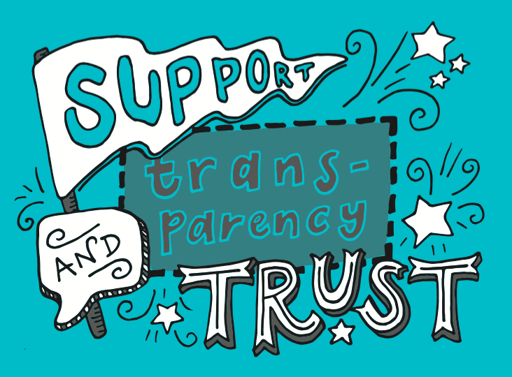support transparency and trust